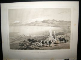 Japan Perry Expedition 1856 Antique Print. Hakodadi From Telegraph Hill